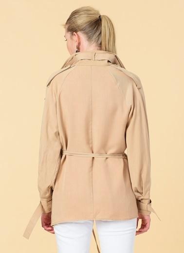 Knit&Co Bağlamalı Tensel Ceket Camel